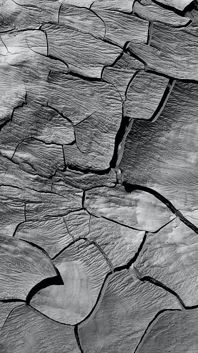 cracks on a dry land